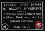 Image of President Calvin Coolidge at Mount Rushmore Black Hills South Dakota USA, 1927, second 9 stock footage video 65675052493
