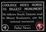 Image of President Calvin Coolidge at Mount Rushmore Black Hills South Dakota USA, 1927, second 14 stock footage video 65675052493