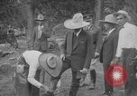 Image of President Calvin Coolidge at Mount Rushmore Black Hills South Dakota USA, 1927, second 21 stock footage video 65675052493