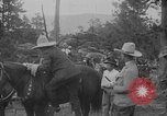 Image of President Calvin Coolidge at Mount Rushmore Black Hills South Dakota USA, 1927, second 31 stock footage video 65675052493