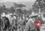 Image of President Calvin Coolidge at Mount Rushmore Black Hills South Dakota USA, 1927, second 62 stock footage video 65675052493