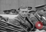 Image of Charles Lindbergh completes 3 month tour in New York Mitchel Field Long Island New York USA, 1927, second 45 stock footage video 65675052495