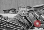 Image of Charles Lindbergh completes 3 month tour in New York Mitchel Field Long Island New York USA, 1927, second 46 stock footage video 65675052495
