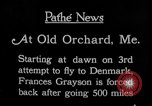 Image of female pilot Frances Grayson Old Orchard Maine USA, 1927, second 4 stock footage video 65675052496