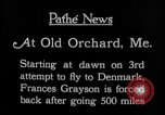 Image of female pilot Frances Grayson Old Orchard Maine USA, 1927, second 10 stock footage video 65675052496