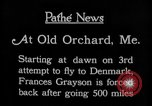 Image of female pilot Frances Grayson Old Orchard Maine USA, 1927, second 11 stock footage video 65675052496