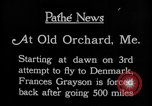 Image of female pilot Frances Grayson Old Orchard Maine USA, 1927, second 13 stock footage video 65675052496