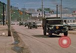 Image of convoy of National Guard trucks Rapid City South Dakota USA, 1972, second 6 stock footage video 65675052523