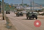 Image of convoy of National Guard trucks Rapid City South Dakota USA, 1972, second 12 stock footage video 65675052523