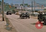 Image of convoy of National Guard trucks Rapid City South Dakota USA, 1972, second 13 stock footage video 65675052523