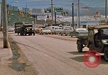 Image of convoy of National Guard trucks Rapid City South Dakota USA, 1972, second 15 stock footage video 65675052523