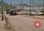 Image of convoy of National Guard trucks Rapid City South Dakota USA, 1972, second 16 stock footage video 65675052523