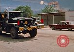 Image of convoy of National Guard trucks Rapid City South Dakota USA, 1972, second 22 stock footage video 65675052523