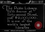 Image of James Farley Post Office building New York City USA, 1918, second 59 stock footage video 65675052546