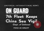 Image of ships of Seventh Fleet China Sea, 1955, second 1 stock footage video 65675052563