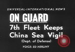 Image of ships of Seventh Fleet China Sea, 1955, second 2 stock footage video 65675052563