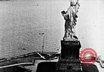 Image of U.S. Navy Class C airships over Statue of Liberty New York United States USA, 1918, second 22 stock footage video 65675052579