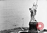 Image of U.S. Navy Class C airships over Statue of Liberty New York United States USA, 1918, second 23 stock footage video 65675052579