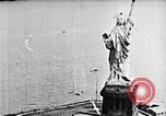 Image of U.S. Navy Class C airships over Statue of Liberty New York United States USA, 1918, second 25 stock footage video 65675052579