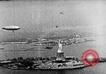 Image of U.S. Navy Class C airships over Statue of Liberty New York United States USA, 1918, second 26 stock footage video 65675052579