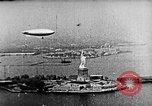 Image of U.S. Navy Class C airships over Statue of Liberty New York United States USA, 1918, second 28 stock footage video 65675052579