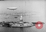 Image of U.S. Navy Class C airships over Statue of Liberty New York United States USA, 1918, second 29 stock footage video 65675052579