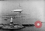 Image of U.S. Navy Class C airships over Statue of Liberty New York United States USA, 1918, second 32 stock footage video 65675052579