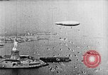 Image of U.S. Navy Class C airships over Statue of Liberty New York United States USA, 1918, second 35 stock footage video 65675052579