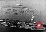 Image of U.S. Navy Class C airships over Statue of Liberty New York United States USA, 1918, second 39 stock footage video 65675052579