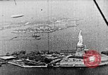 Image of U.S. Navy Class C airships over Statue of Liberty New York United States USA, 1918, second 40 stock footage video 65675052579