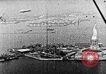 Image of U.S. Navy Class C airships over Statue of Liberty New York United States USA, 1918, second 43 stock footage video 65675052579