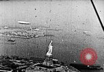 Image of U.S. Navy Class C airships over Statue of Liberty New York United States USA, 1918, second 44 stock footage video 65675052579
