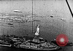 Image of U.S. Navy Class C airships over Statue of Liberty New York United States USA, 1918, second 45 stock footage video 65675052579