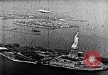 Image of U.S. Navy Class C airships over Statue of Liberty New York United States USA, 1918, second 46 stock footage video 65675052579