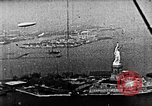 Image of U.S. Navy Class C airships over Statue of Liberty New York United States USA, 1918, second 47 stock footage video 65675052579