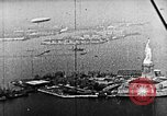 Image of U.S. Navy Class C airships over Statue of Liberty New York United States USA, 1918, second 49 stock footage video 65675052579
