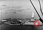 Image of U.S. Navy Class C airships over Statue of Liberty New York United States USA, 1918, second 51 stock footage video 65675052579