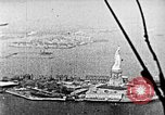 Image of U.S. Navy Class C airships over Statue of Liberty New York United States USA, 1918, second 52 stock footage video 65675052579