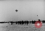 Image of Parachutist jumps from airship New York United States USA, 1918, second 14 stock footage video 65675052580