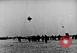 Image of Parachutist jumps from airship New York United States USA, 1918, second 16 stock footage video 65675052580