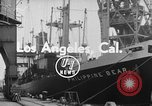 Image of Philippine Bear Ship Los Angeles California USA, 1954, second 1 stock footage video 65675052611