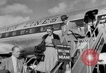 Image of film star Jimmy Stewart Miami Florida USA, 1954, second 12 stock footage video 65675052628
