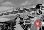 Image of film star Jimmy Stewart Miami Florida USA, 1954, second 13 stock footage video 65675052628