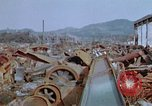 Image of collapsed roof members Japan, 1946, second 62 stock footage video 65675052632