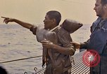 Image of US submarine rescues Japanese survivors at sea Pacific Ocean, 1945, second 21 stock footage video 65675052639