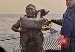 Image of US submarine rescues Japanese survivors at sea Pacific Ocean, 1945, second 27 stock footage video 65675052639