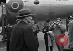Image of Clement R Attlee Berlin Germany Gatow Airport, 1945, second 49 stock footage video 65675052647