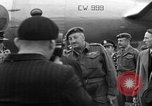 Image of Clement R Attlee Berlin Germany Gatow Airport, 1945, second 52 stock footage video 65675052647