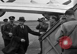 Image of Clement R Attlee Berlin Germany Gatow Airport, 1945, second 60 stock footage video 65675052647