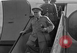 Image of Winston Churchill Berlin Germany Gatow Airport, 1945, second 15 stock footage video 65675052650